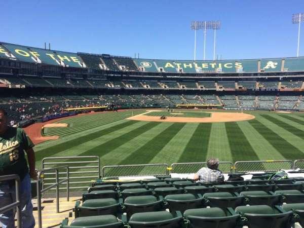 Oakland Coliseum, secção: 149, fila: 35, lugar: 16