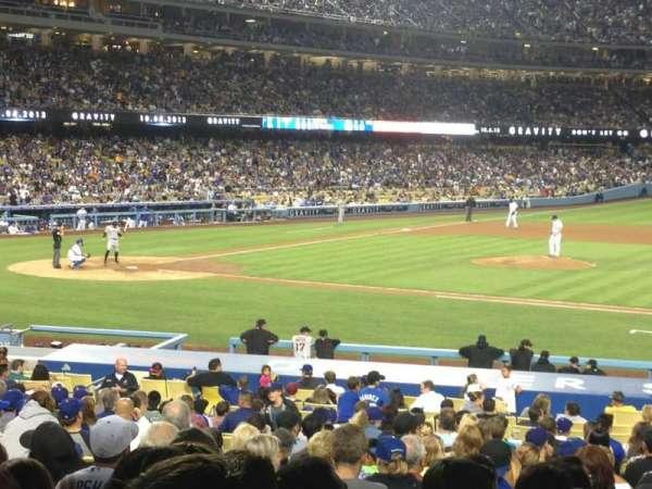 Dodger Stadium, secção: 18FD, fila: W, lugar: 5