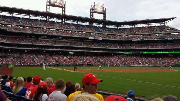 Citizens Bank Park, secção: 110, fila: 6, lugar: 7