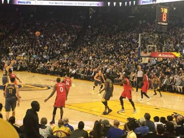 Oakland Arena, secção: 124, fila: 5, lugar: 9