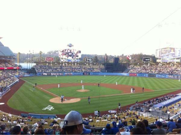 Dodger Stadium, secção: 110LG, fila: L, lugar: 6
