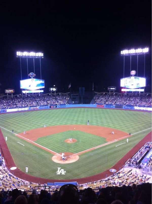 Dodger Stadium, secção: 2RS, fila: S, lugar: 4