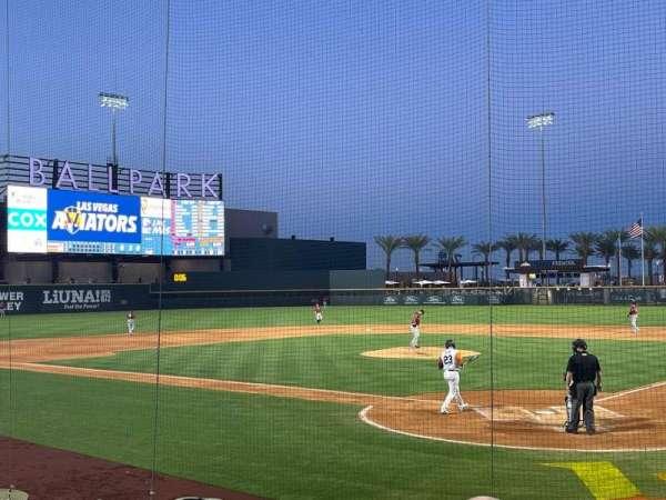 Las Vegas Ballpark, secção: 112, fila: K, lugar: 2