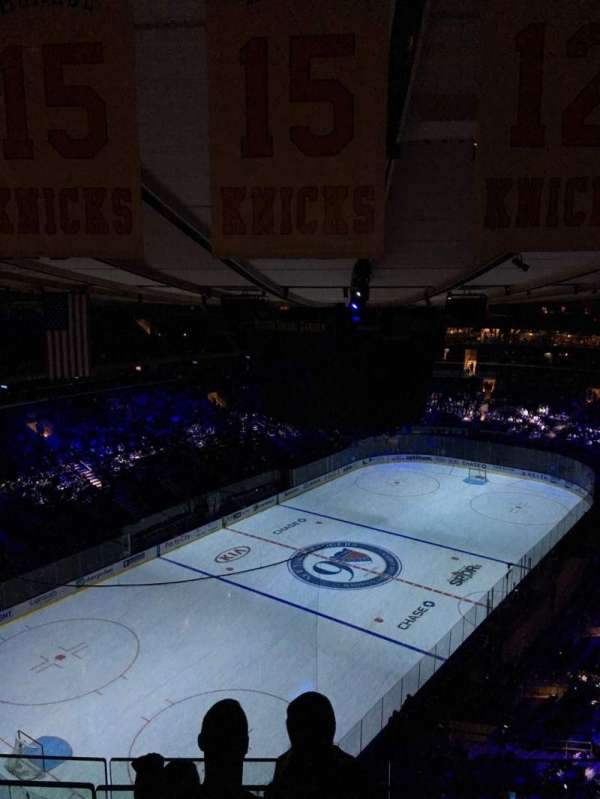 Madison Square Garden, secção: 322, fila: BS 3, lugar: 17