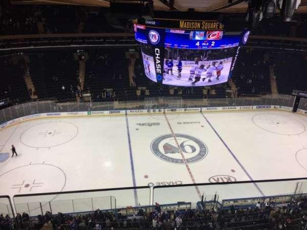 Madison Square Garden, secção: 312, fila: 2, lugar: 1