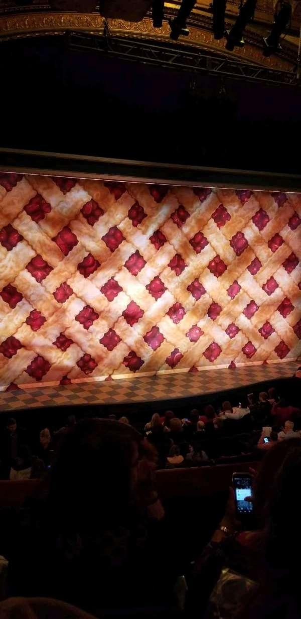 Brooks Atkinson Theatre, secção: Front Mezzanine L, fila: C, lugar: 5