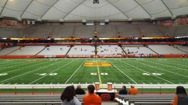 Carrier Dome, secção: 116, fila: l, lugar: 1
