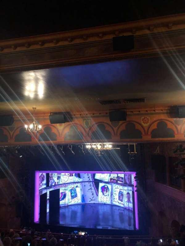 August Wilson Theatre, secção: Mezzanine R, fila: O