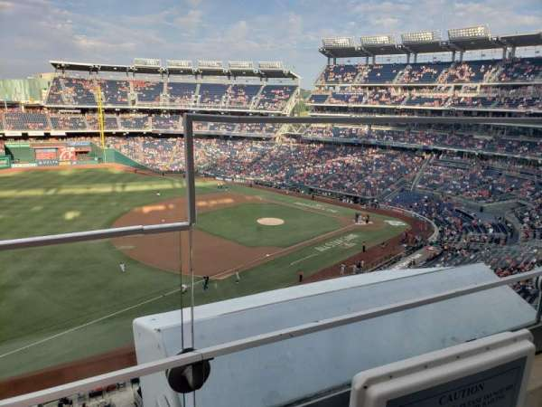 Nationals Park, secção: 304, fila: A, lugar: 1