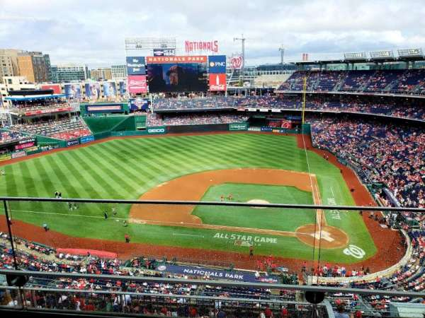 Nationals Park, secção: 409, fila: B, lugar: 18