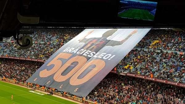 Camp Nou, secção: 317, fila: 34, lugar: 04