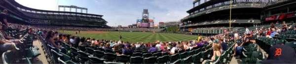 Coors Field, secção: 116, fila: 11, lugar: 11