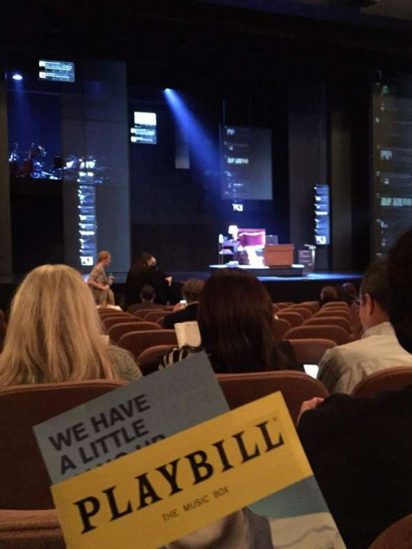 Music Box Theatre, secção: Orchestra C, fila: L, lugar: 113