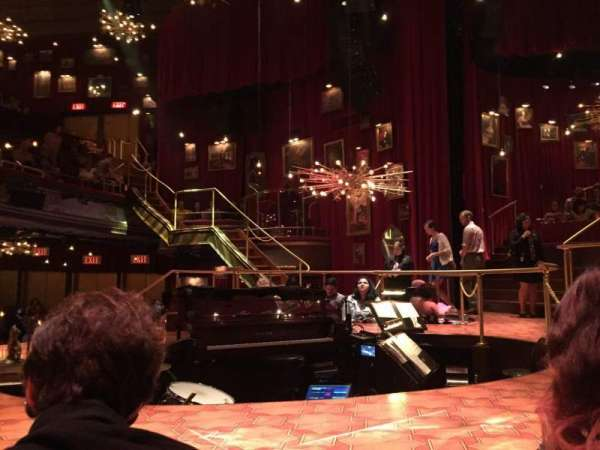 Imperial Theatre, secção: Stage Left Sunken Table, fila: TK, lugar: 1