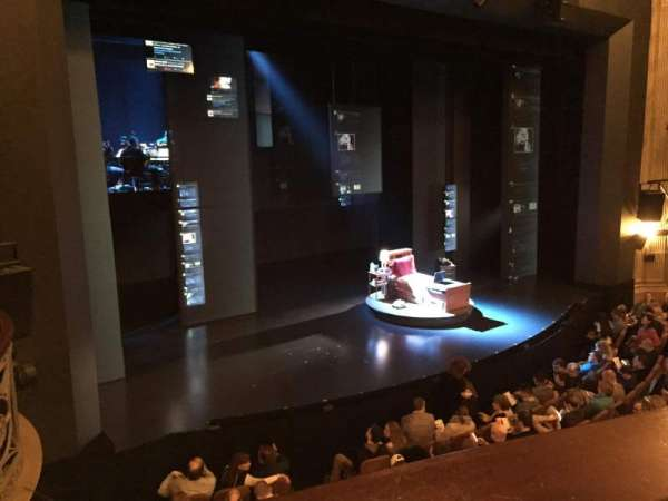 Music Box Theatre, secção: Mezzanine L, fila: A, lugar: 15