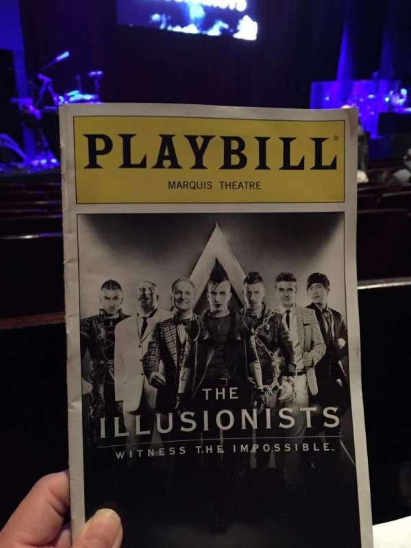 Marquis Theatre, secção: Orchestra Left, fila: F, lugar: 7