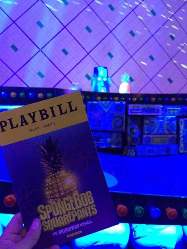 Palace Theatre (Broadway), secção: Orch Center, fila: B, lugar: 101