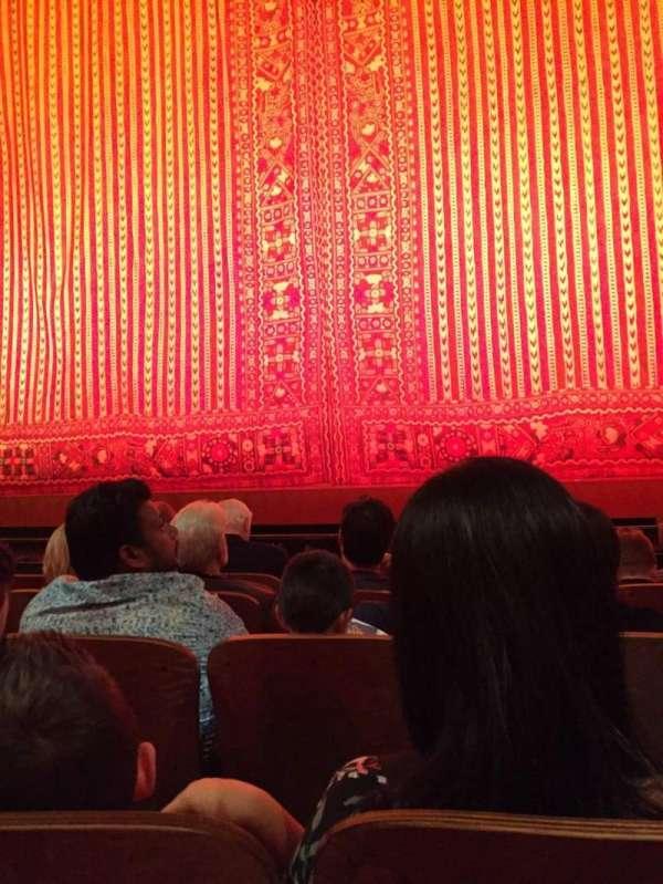 New Amsterdam Theatre, secção: Orchestra C, fila: E, lugar: 103