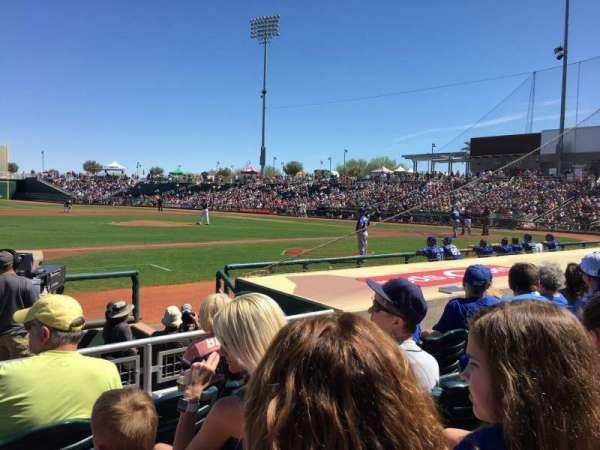 Goodyear Ballpark, secção: 107, fila: H, lugar: 16