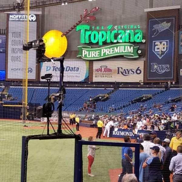Tropicana Field, secção: 103, fila: M, lugar: 1