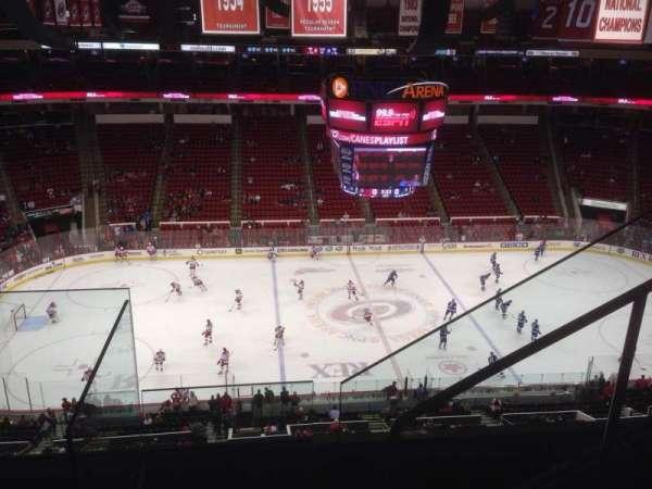 PNC Arena, secção: 305, fila: D, lugar: 4