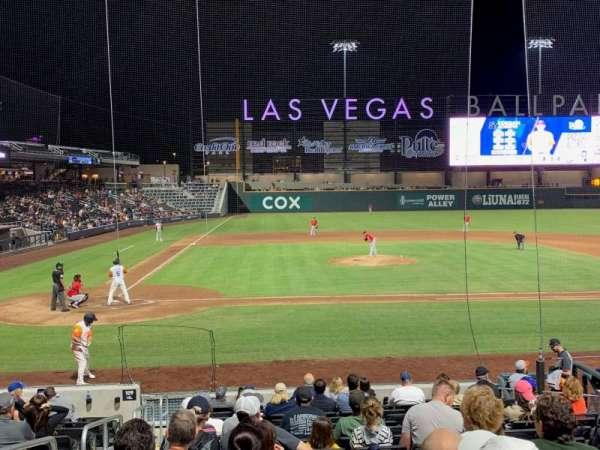 Las Vegas Ballpark, secção: 108, fila: Q, lugar: 2