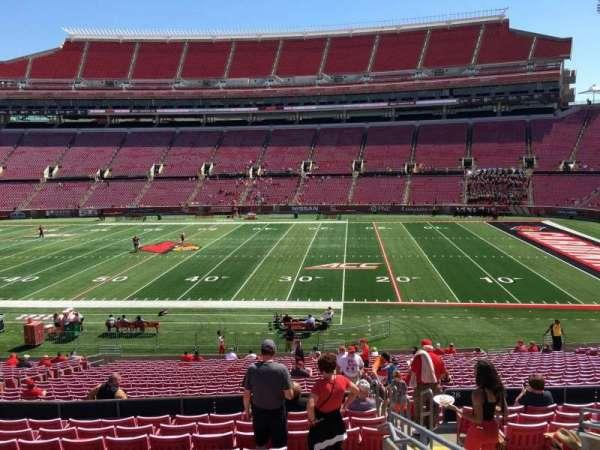 Cardinal Stadium, secção: 229, fila: M, lugar: 3