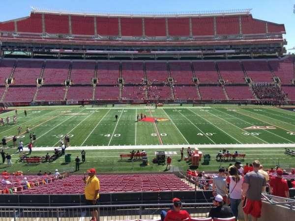 Cardinal Stadium, secção: 231, fila: M, lugar: 7