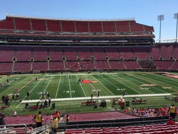 Cardinal Stadium, secção: 231, fila: S, lugar: 19