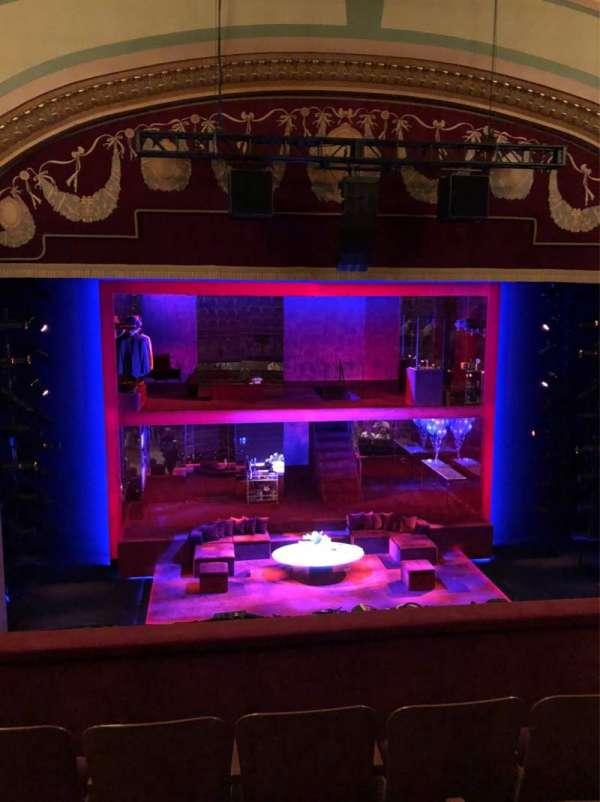 Booth Theatre, secção: Mezzanine C, fila: D, lugar: 103