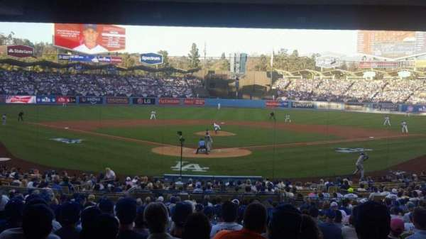 Dodger Stadium, secção: Field Level, fila: Standing