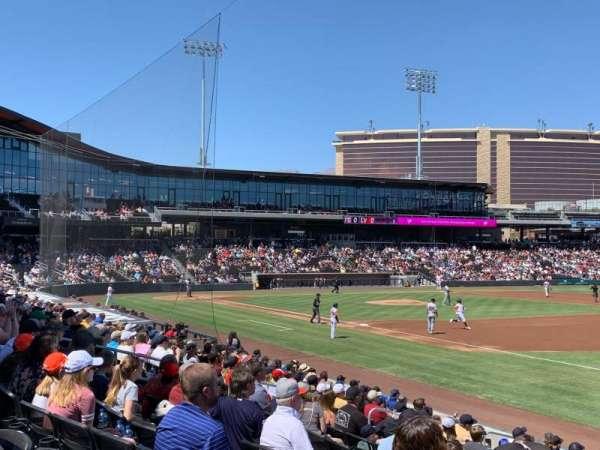 Las Vegas Ballpark, secção: OFP104, fila: Q, lugar: 19,20