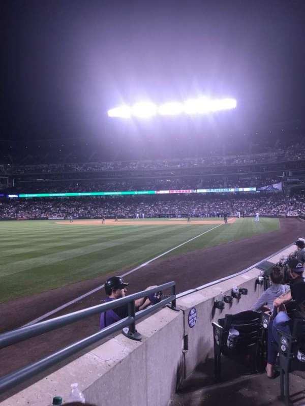 Coors Field, secção: 149, fila: 6, lugar: 4