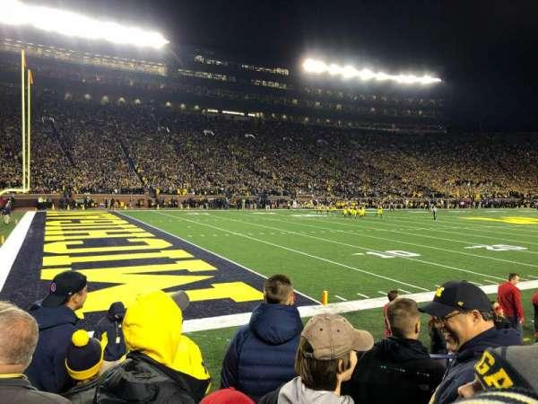 Michigan Stadium, secção: 6, fila: 3, lugar: 16
