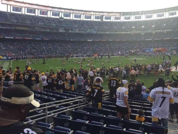 San Diego Stadium, secção: F0, fila: 14, lugar: 4