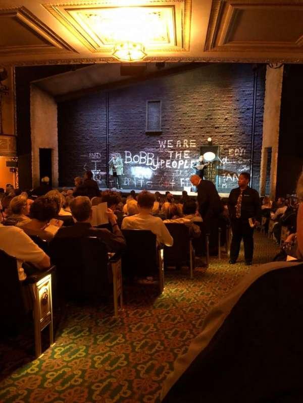 Bernard B. Jacobs Theatre, secção: Orch, fila: P, lugar: 2