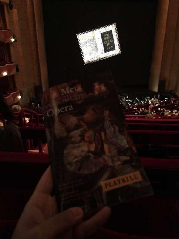 Metropolitan Opera House - Lincoln Center, secção: Grand Tier, fila: F, lugar: 126