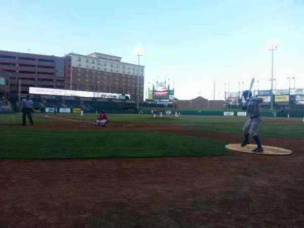 Chickasaw Bricktown Ballpark, secção: 111, fila: B, lugar: 18