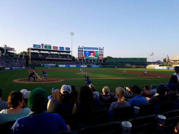 Dell Diamond, secção: 121, fila: 9, lugar: 6