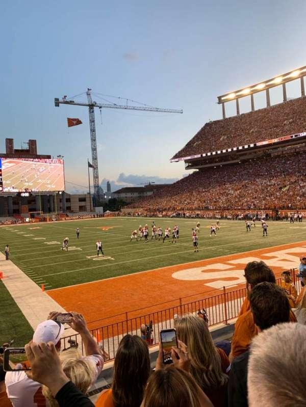 Texas Memorial Stadium, secção: 17, fila: 7, lugar: 40