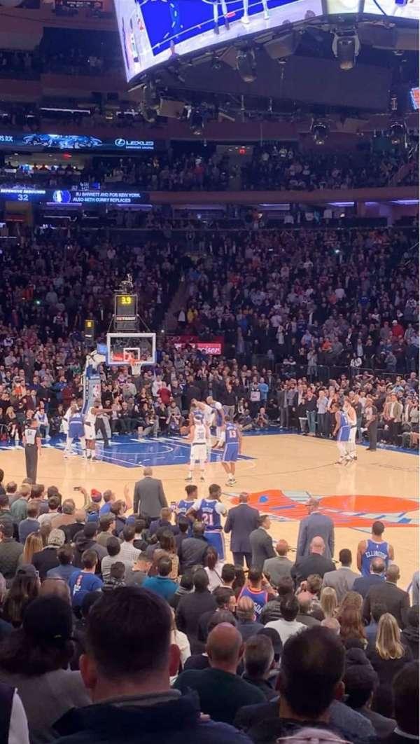 Madison Square Garden, secção: 109, fila: 8, lugar: 14