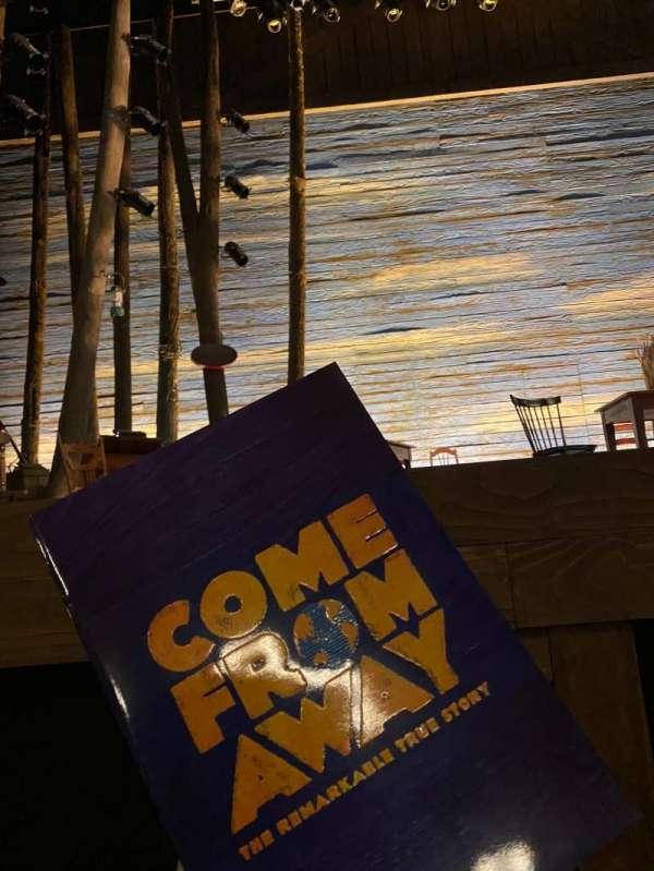 Comedy Theatre, secção: Stalls, fila: A, lugar: 19