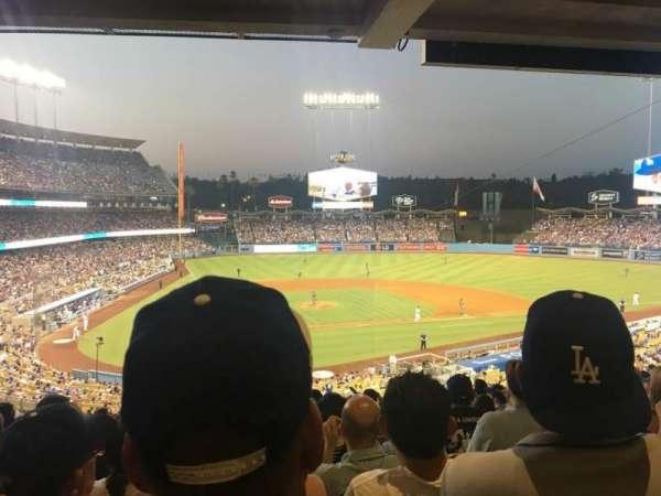 Dodger Stadium, secção: 116LG, fila: S, lugar: 6