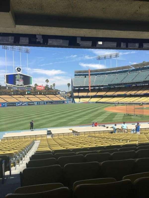 Dodger Stadium, secção: 41FD, fila: W, lugar: 8