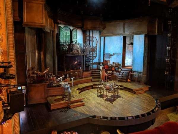 Walter Kerr Theatre, secção: Mezzanine L, fila: A, lugar: 9