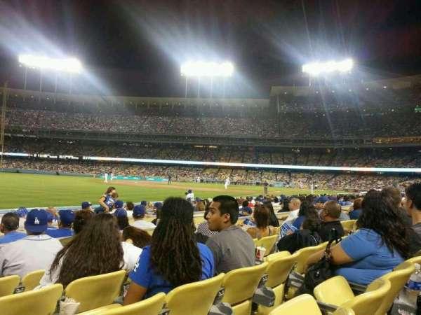 Dodger Stadium, secção: 45FD, fila: D