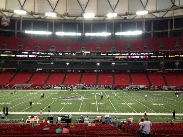 Georgia Dome, secção: 135, fila: 31, lugar: 15