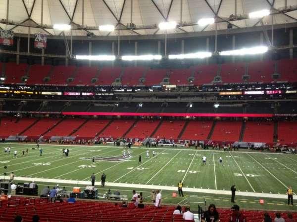 Georgia Dome, secção: 134, fila: 27, lugar: 12