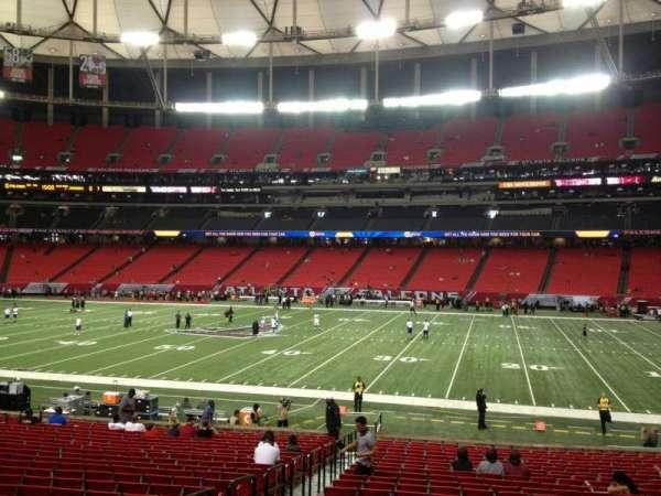 Georgia Dome, secção: 133, fila: 25, lugar: 4