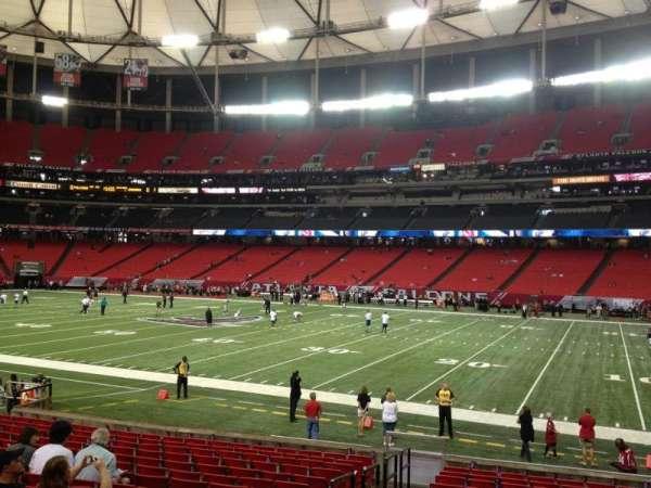 Georgia Dome, secção: 132, fila: 16, lugar: 2